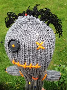 Voodoo Doll Custom Knitted Golf Club Headcover Handmade (You choose colors) on Etsy, $26.00