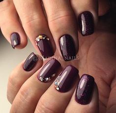 Such bright plum violet manicure is the excellent evening variant. And in general such color is universal. The plum violet ...