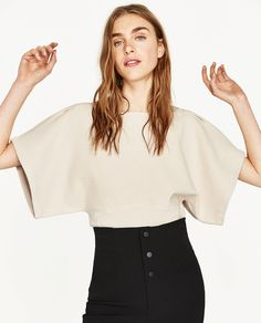 Image 2 of KIMONO SLEEVE SWEATER from Zara