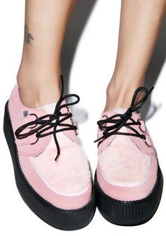 fuzzy creepers  kawaii pastel pastel grunge pastel goth fairy kei fachin creepers shoes platforms flatforms dollskill furry fuzzy plus shoes