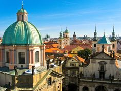 Picturesque Prague beats with a bohemian heart: Get off the beaten bath at any number of historic pubs (try U Zlatého Tygra or U Jelínků) or head up to Petřín Hill for incredible views of the city. Come Christmastime, the city's Wenceslas Square transforms into a scene straight from a postcard.