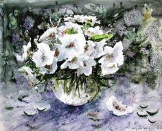 CELAL GÜNAYDIN Turkish Artist Painter Watercolor - Suluboya 40X32