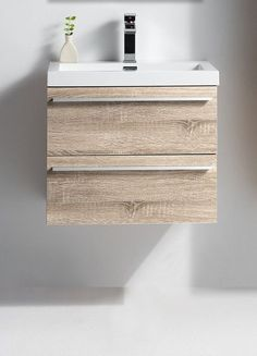 "Sophia, Golden Elite 24"" Wheat Modern Wall Mount Bathroom Vanity"