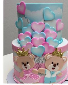 CUSTOM CAKES 🖤🖤🖤🖤🖤 Baby Cakes, Baby Shower Cakes, Baby Reveal Cakes, Girl Cakes, Cupcake Cakes, Twin Birthday Cakes, Birthday Cakes Girls Kids, Twins Cake, Beautiful Birthday Cakes