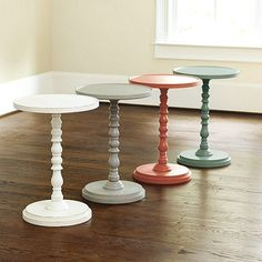 Come learn how to make this easy DIY Pedestal Side Table for the fraction of the cost of store bought ones!