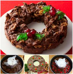 Christmas Fudge Wreath