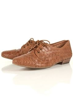 KELSEY Tan Woven Lace Up Shoes - Flats - Shoes - Topshop USA - StyleSays