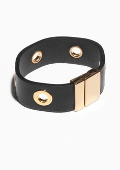 & Other Stories | Eyelet Leather Bracelet