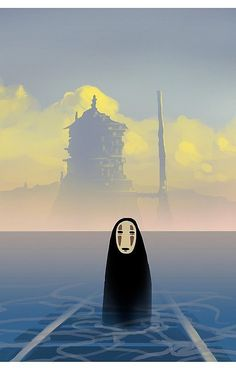 No-Face 'Spirited Away' — Wearing nothing but a pale mask and a black cloak, No-Face simply hovers in the background for the majority of the film, silently watching Chihiro on her journey through the magical realm of Spirited Away.