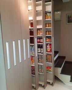 Kitchen Pantry Design, Diy Kitchen Storage, Modern Kitchen Design, Home Decor Kitchen, Interior Design Kitchen, Cd Storage, Cupboard Design, Home Decor Furniture, Kitchen Furniture