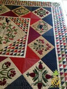THE QUILTED PINEAPPLE: Words To Live By Quilt @Primitive Gatherings Quilt Shop  @ModaFabrics