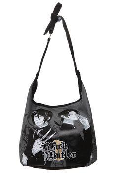Black Butler Hobo Bag Hot Topic Purses Handbags Bags