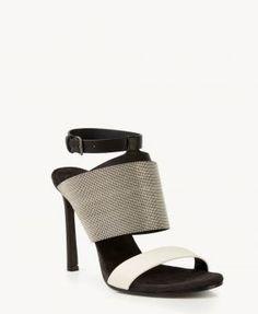 High-Heels mit breiter Perlen-Verzierung Mutli