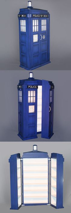 This TARDIS Shelving System Features Time Lord Storage Technology Read more at http://nerdapproved.com/approved-products/this-tardis-shelving-system-features-time-lord-storage-technology/#hqQGQf5LliQG8jrk.99