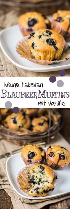 My favorite Blueberry Muffins with Vanilla /// Meine liebsten Vanille-Blaubeermuffins