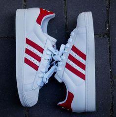 adidas Originals Superstar 2 | White & Light Scarlet Red
