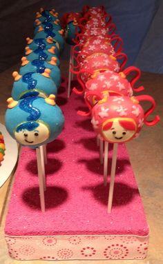 Team Umizoomi Cake pops Custom made by www.kitchensweetz.com
