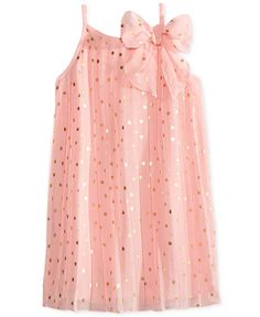 Epic Threads Pleated Chiffon Dress, Toddler & Little Girls (2T-6X), Only at Macy's