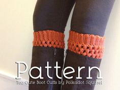 etté studios: DIY Knitted Boot Cuff Roundup