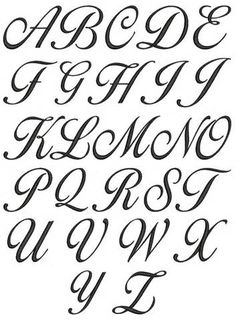 Alphabet STENCIL Fancy Script 4