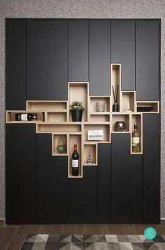 Regal Design, Küchen Design, Graphic Design, Design Ideas, Design Trends, Loft Design, Diy Casa, Traditional Bedroom Decor, Modern Traditional
