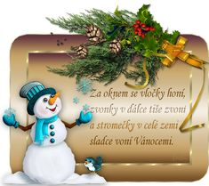 Vánoční přání s říkankou | vánoční blog Diy And Crafts, Santa, Christmas Ornaments, Blog, Holiday Decor, Cards, Advent, Blogging, Christmas Baubles