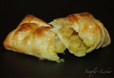Quick snack using puff pastry - curry potatoes puff.