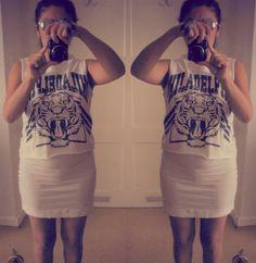 Chicnova Review & OOTD - Philadelphia Tiger Print shirt |Madame Keke #fashion #blogger