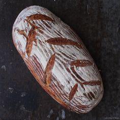 Laskominy od Maryny: Podmáslový chléb II. Crackers, Baked Potato, Rolls, Food And Drink, Bread, Baking, Ethnic Recipes, Label, Brot
