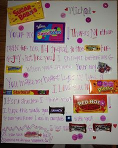 248 Best Candy Posters Images Candy Bar Cards Gifts Creative