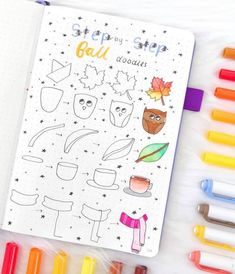 fall doodles drawing guide - My CMS Bullet Journal Notes, Bullet Journal Ideas Pages, Bullet Journal Inspiration, Drawing Journal, Doodle Art Journals, Drawing Guide, Drawing Drawing, Fall Drawings, Doodle Drawings