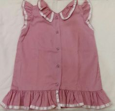 Pink simple dress for baby.