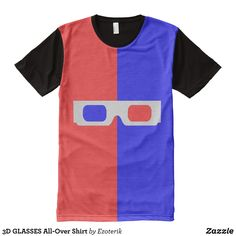 3D GLASSES All-Over Shirt - Visually Stunning Graphic T-Shirts By Talented Fashion Designers - #shirts #tshirts #print #mensfashion #apparel #shopping #bargain #sale #outfit #stylish #cool #graphicdesign #trendy #fashion #design #fashiondesign #designer #fashiondesigner #style