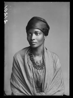 Mrs Eleanor Xiniwe (née Ndwanya) of the African Choir, 1891. Photographed by London Stereoscopic Company. Between 1891-1893 a group of young Africans singers toured Britain and North American as the ' African Choir'. Inspired by Orpheus M. McAdoo's Virginia Jubilee Singers, they were a Christian choir on a mission to raise funds for a technical school in Kimberley in the Cape Colony (South Africa). The Choir's members included Paul Xiniwe and his wife Eleanor, Sannie Koopman, Charlotte…