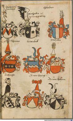 Wappen besonders von deutschen Geschlechtern Süddeutschland ?, 1475 - 1560 Cod.icon. 309  Folio 28r