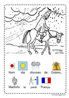 A lenda de S. Martinho com pictogramas.