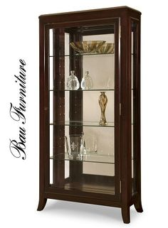 The new Solana Curio cabinet from Bau Furniture has classic lines can be paired with either a traditional or contemporary theme. Marie-Howard Showroom Suite 119 in MDC