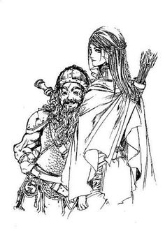 Gimli and Legolas