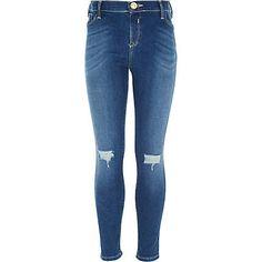 Girls blue ripped jeans  £20 #RIkidswear