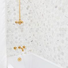 White Marble Hexagon Shower Tiles