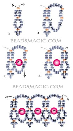 Free pattern for necklace Lada - 1 Beaded Necklace Patterns, Beaded Jewelry Designs, Seed Bead Jewelry, Beaded Necklaces, Seed Beads, Beaded Bead, Perler Beads, Beading Patterns Free, Seed Bead Patterns