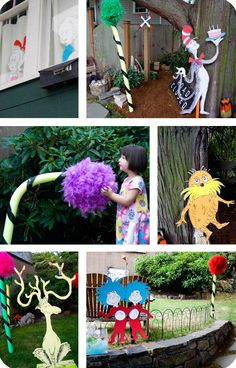 Dr. Seuss party with life-size Truffula Trees!!!  Dr.seuss birthday and baby shower party ideas and inspiration