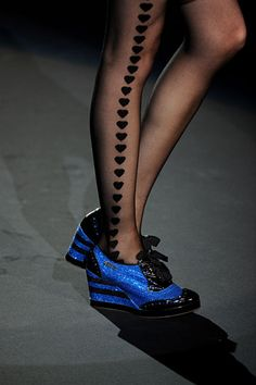 Shoes & tights! Anna Sui Details Spring 2012 RTW