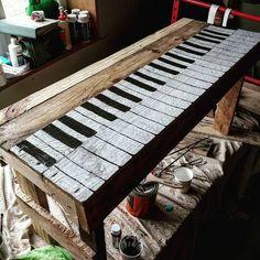 pallet piano idea