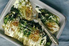 Roasted Romaine Hearts with Lemon Zest & Garlic Aïoli