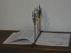 Sculptures 2007-2013 on Behance Foresta iron, book 64,5X33X32 cm 2012