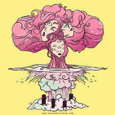 Big boom 💥💣 . . . . . #art #rainbowcolors #oddart #digitaldoodle #ilovecolors #draw #artlover #drawing #artwork #coolartwork #vibrant #artaccount #procreate5 #wildart #art2020 #illustration #artist Grunge Art, Pastel Grunge, Artwork Prints, Poster Prints, Bomba Nuclear, Mushroom Cloud, Cloud Drawing, Kawaii, Art Inspo