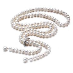High Quality Fashion Long Pearl Necklace Natural Freshwater Pearl 925 Sterling Silver Jewelry For Women Statement Necklace //Price: $56.00 & FREE Shipping // Get it here ---> http://bestofnecklace.com/high-quality-fashion-long-pearl-necklace-natural-freshwater-pearl-925-sterling-silver-jewelry-for-women-statement-necklace/    #Wedding_jewellery