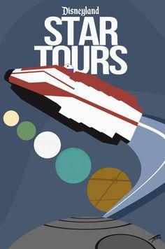 10 Disneyland Minimalist Tomorrowland Posters