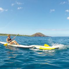 Pro #1 of learning to SUP on Maui...the water is warm! 😉💦 #splash #msupall